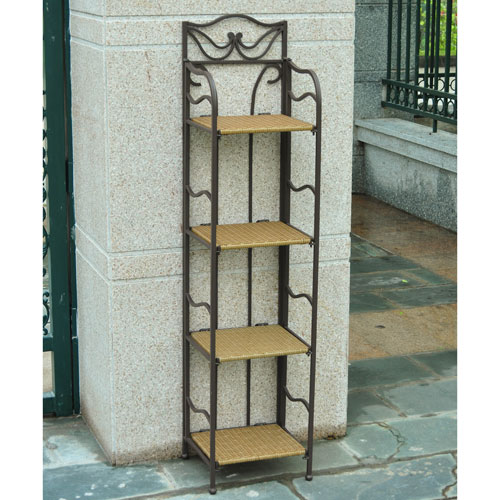 Valencia 4-Tier 12-inch Wide Plant Stand, Honey