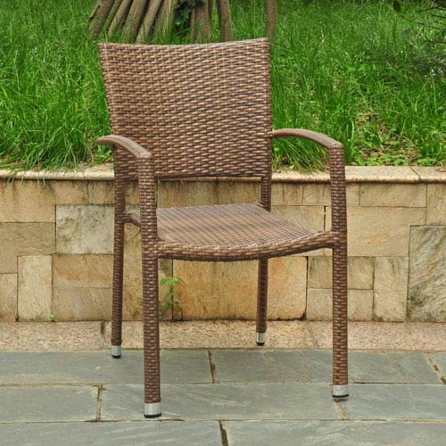 Barcelona Resin Wicker Square Back Dining Chair