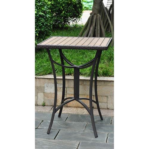 Barcelona 32 inch Square Resin Wicker/Aluminum Bar Table