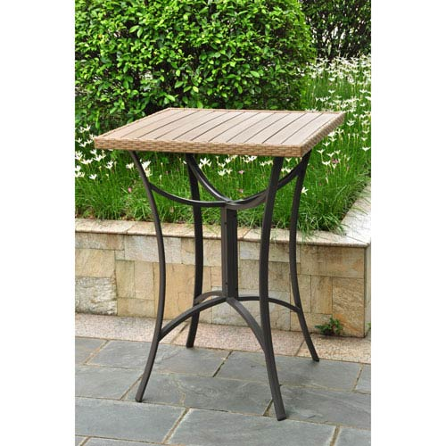 Barcelona 32 inch Square Resin Wicker/Aluminum Bar Table