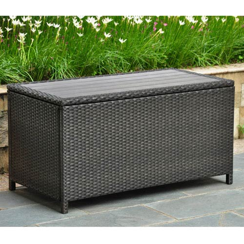 Barcelona Resin Wicker/ Aluminum Storage Trunk
