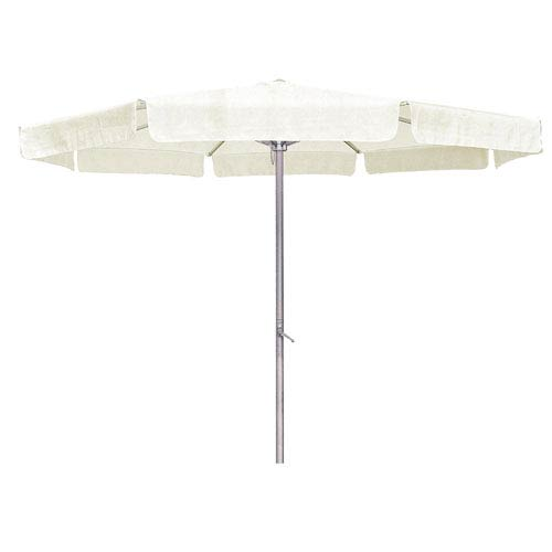 8 Ft. Beige Outdoor Aluminum Umbrella with Flaps