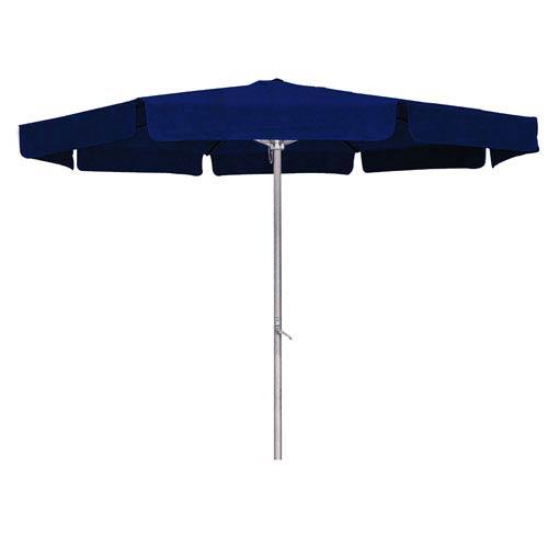 8 Ft. Navy Outdoor Aluminum Umbrella with Flaps