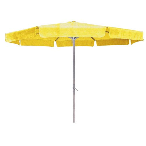 8 Ft. Yellow Outdoor Aluminum Umbrella with Flaps