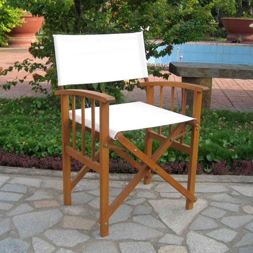 Set of Two Directors Chair with Mission Style Arms