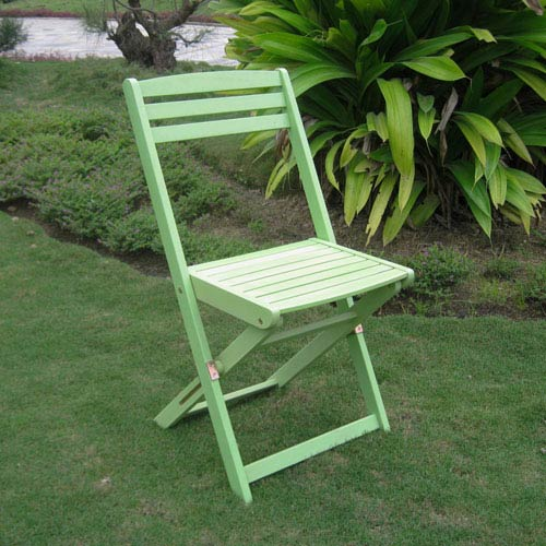 Set of Two Acacia Folding Chairs