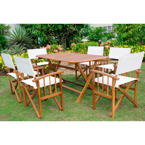 Cariati Acacia Wood 7 Piece Patio Group