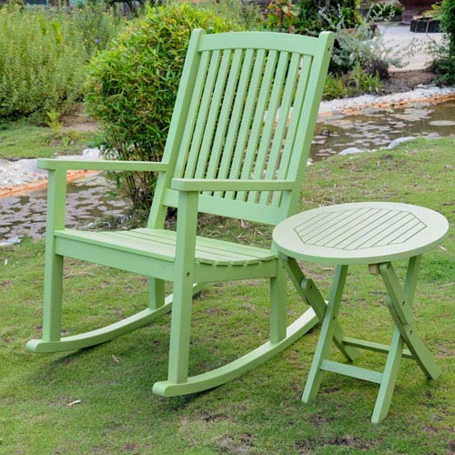 Royal Tahiti Mint Green Rocker and Side Table