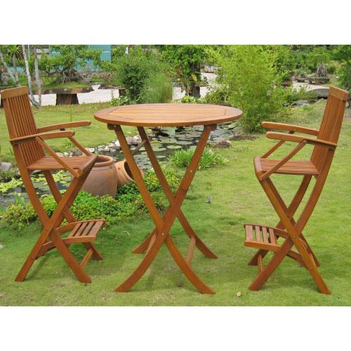 Carmona Set of 3 Bar Height Table Group