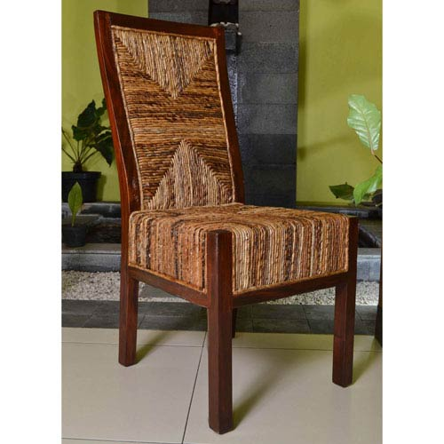 Set of Two Dallas Abaca Weave Dining Chair