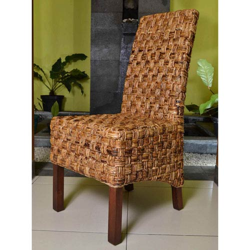 Set of Two Victor Woven Abaca Dining Chair