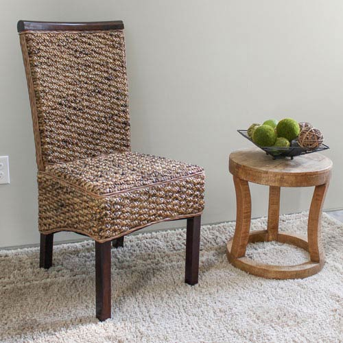 Bunga Hyacinth Dining Chair, Salak Brown