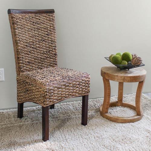 Bunga Hyacinth Dining Chair (Set of 2), Salak Brown