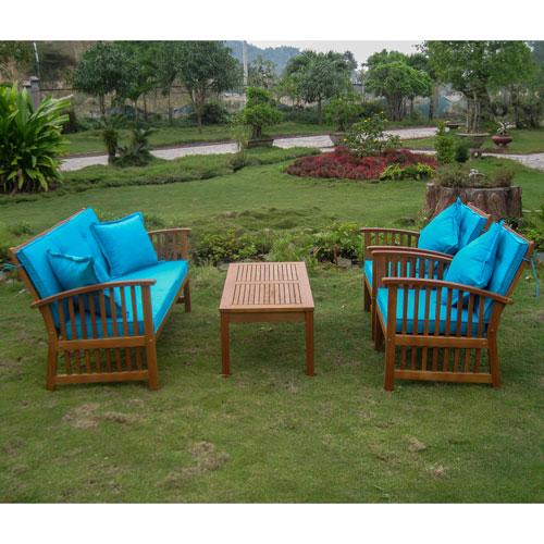 Royal Tahiti Phuket Set of Four Settee Group with Cushions