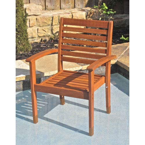 International Caravan Royal Tahiti Oslo Outdoor Chair-Set of Two
