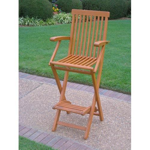 International Caravan Royal Tahiti Outdoor Folding Bar Chair-Set of Two
