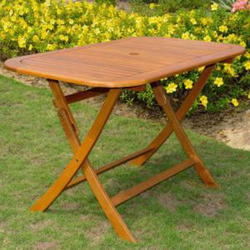 Acacia Rectangular Folding Table