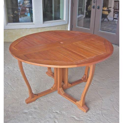 Royal Tahiti Round Wood Gate Leg Table