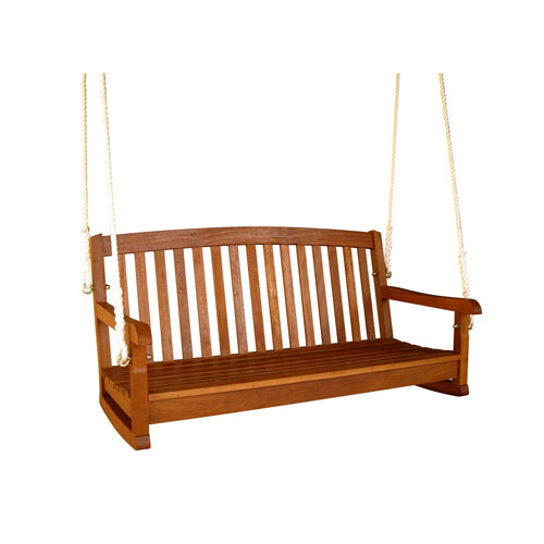 Royal Tahiti Curved Back Wood Two Seat Swing