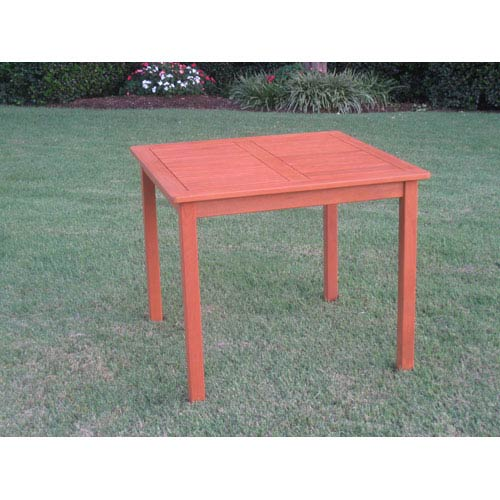International Caravan Royal Tahiti Outdoor Wood 32-Inch Square Table