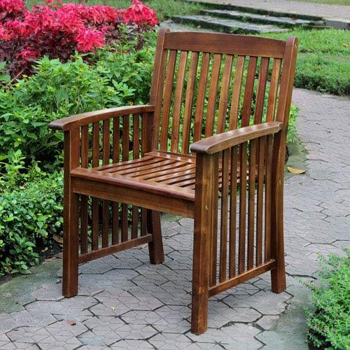 Highland Set of Two  Acacia Denver Arm Chair