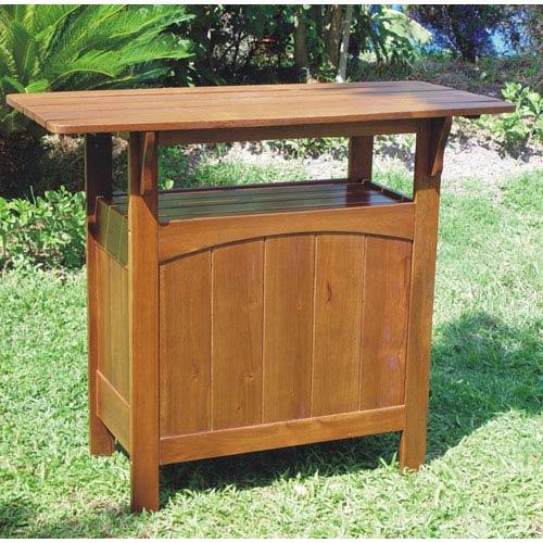 Acacia Wood Bar Table