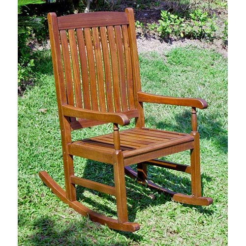 Acacia Wood Outdoor Wood Porch Rocker
