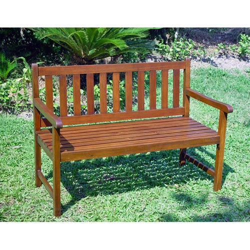 Acacia Wood Outdoor Four Ft. Bench