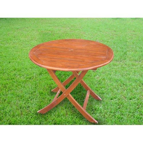 38 Inch Round Table.International Caravan Acacia Wood 38 Inch Round Folding Table