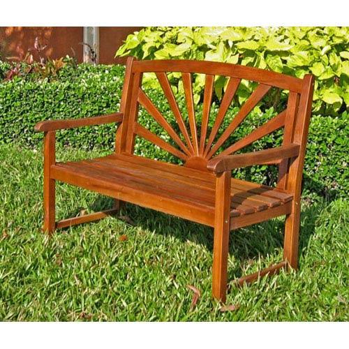 Sapporo Acacia Wood Outdoor Bench
