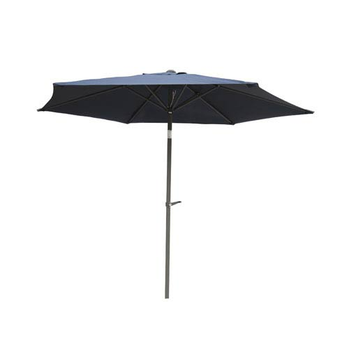 8 Ft. Navy Outdoor Aluminum Umbrella