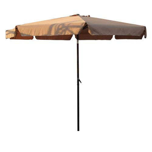 Outdoor 10 Foot Aluminum Umbrella with Flaps