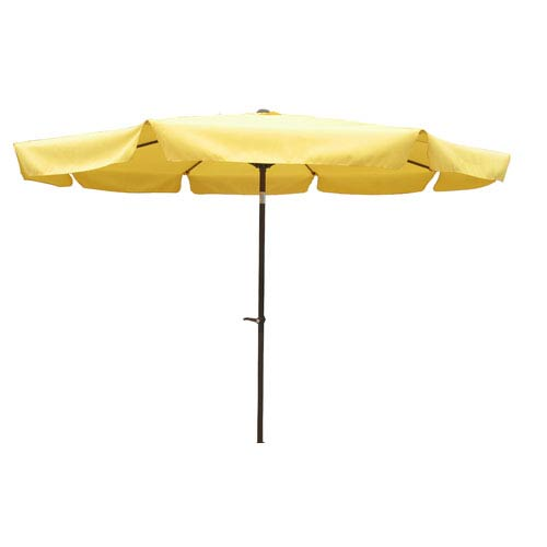 International Caravan 10 Ft. Yellow Outdoor Aluminum Umbrella with Flaps