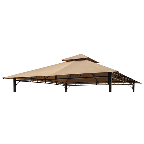 ST. Kitts Khaki Replacement Canopy for 10 Foot Canopy Gazebo