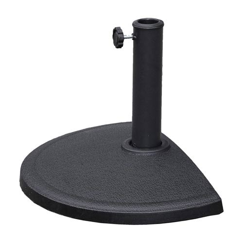 Compound Resin Half-Round Umbrella Stand, Black