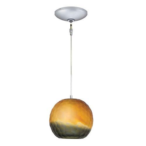Envisage VI Satin Nickel One-Light Low Voltage Mini Pendant with Bronze Smoke Glass