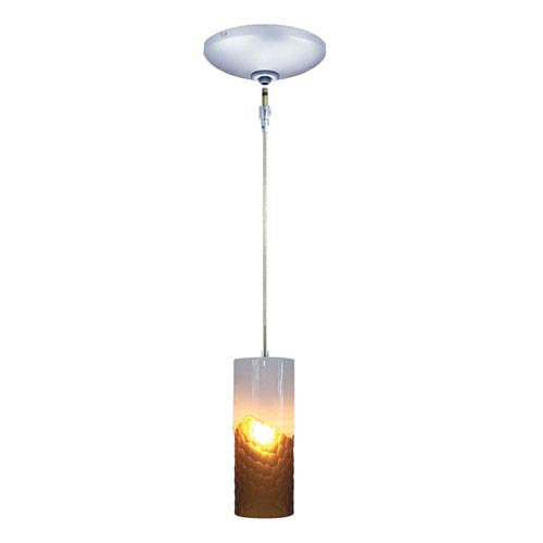 Envisage VI Chrome One-Light Low Voltage Mini Pendant with White and Amber Shade