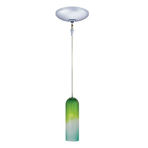 Envisage VI Chrome One-Light Low Voltage Mini Pendant with Blue and Green Shade