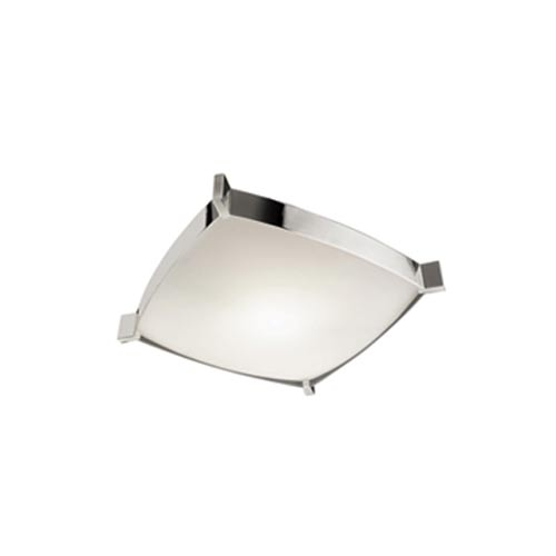 Grok Linea Small Chrome Flush Mount