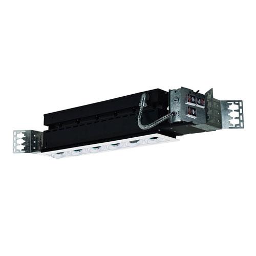White Six-Light Low Voltage Linear New Construction Fixture
