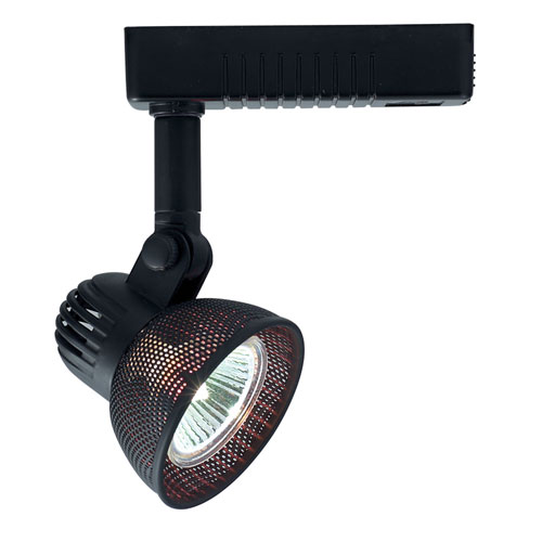 H Type Mini Deco Series Black One-Light Low Voltage Track Head with Mesh Shade