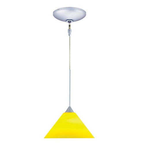 Selma Chrome One-Light Low Voltage Mini Pendant with Yellow Shade
