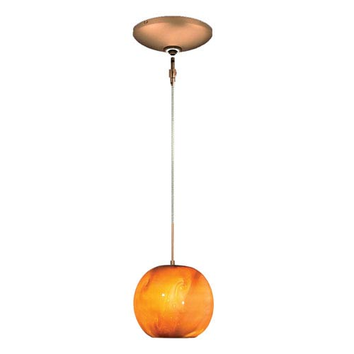 Envisage VI Bronze One-Light Low Voltage Mini Pendant with Caramel Shade
