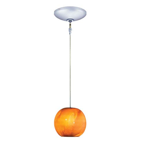 Envisage VI Chrome One-Light Low Voltage Mini Pendant with Caramel Shade