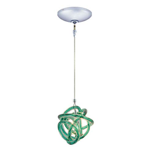 Envisage VI Chrome One-Light Low Voltage Knot Mini Pendant with Teal Shade