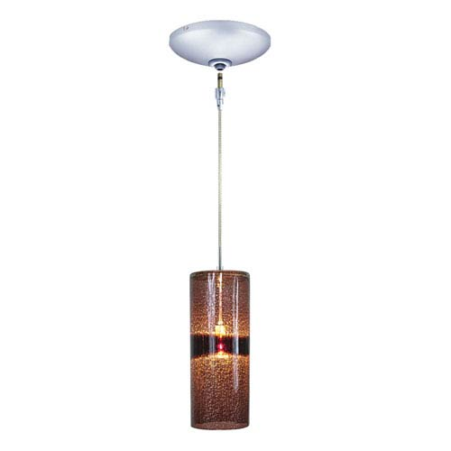 Envisage VI Chrome One-Light Low Voltage Cylinder Mini Pendant with Purple Shade
