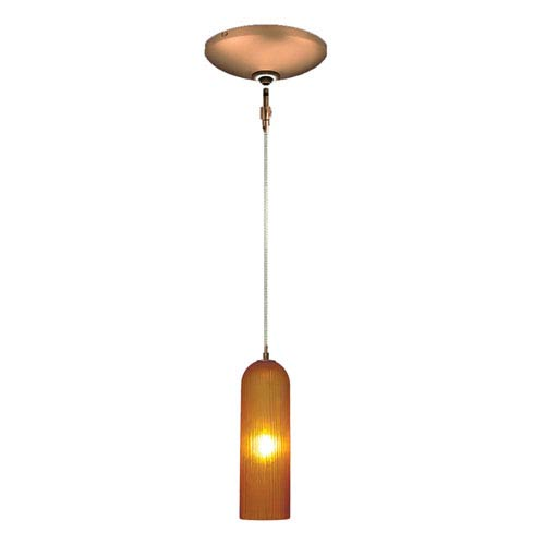 Envisage VI Bronze One-Light Low Voltage Mini Pendant with Amber Shade