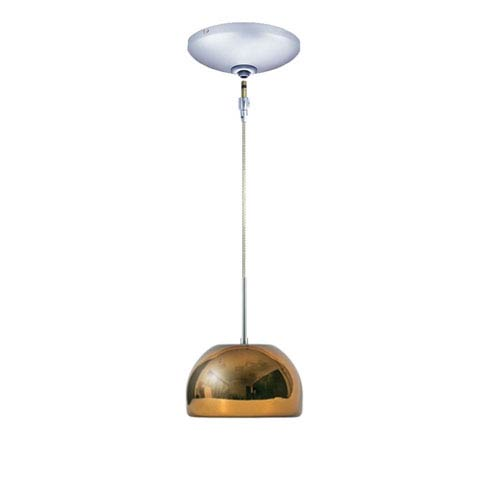 Envisage VI Chrome One-Light Low Voltage Dome Pendant with Chocolate Shade
