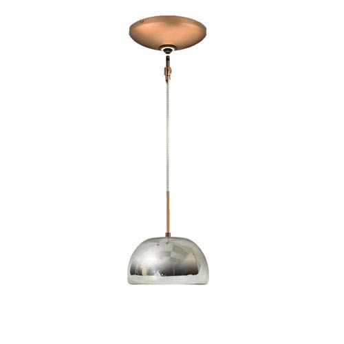 Envisage VI Chrome One-Light Low Voltage Dome Pendant with Bronze Canopy