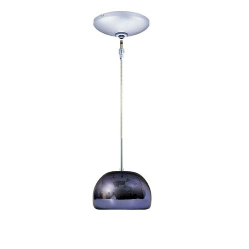 Envisage VI Chrome One-Light Low Voltage Dome Pendant with Purple Shade